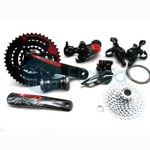 2012 SRAM X9 X.9 MTB Bike Group set 6pcs 10x3 speed red