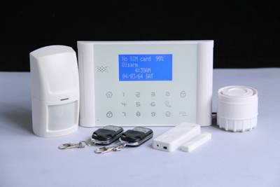 LCD display GSM&PSTN intruder alarm
