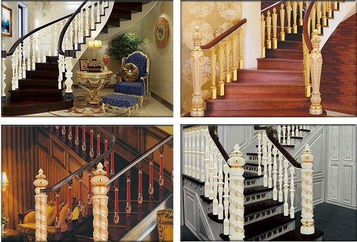 K Gold Aluminum handrail railing
