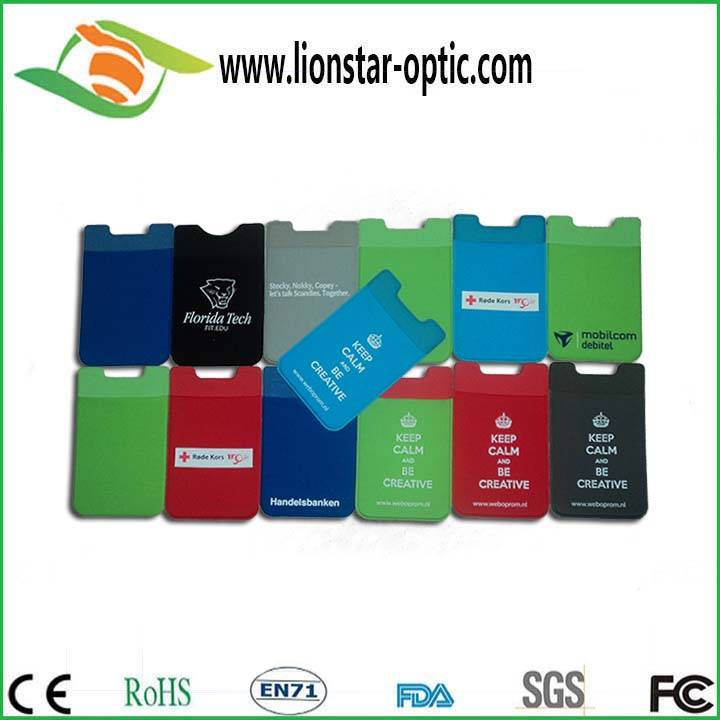 2015 hot promotion gift 3M lycra fiber cell phone sticker