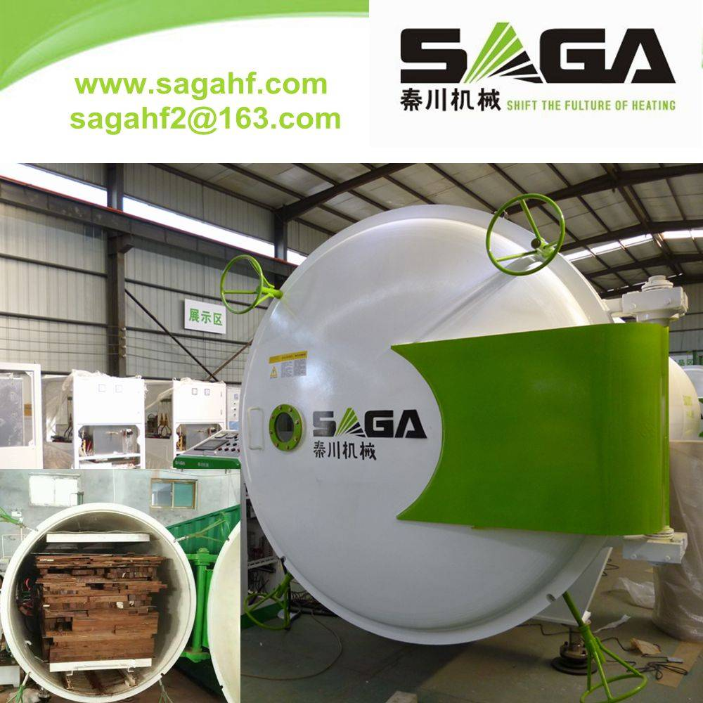 High frequency vacuum wood drying kiln dryer machine