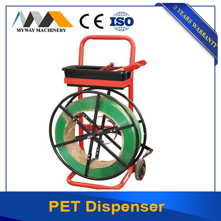 PP /PET strap dispenser for pallent packing