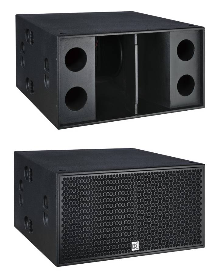 dual 18 inch subwoofer speaker 2000watt outdoor sub-bass