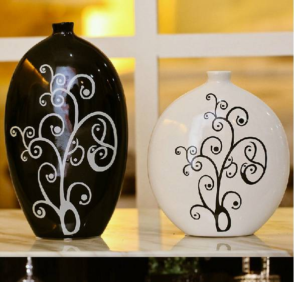Best gifts glazed porcelain decoration pottery morden home decoration vase