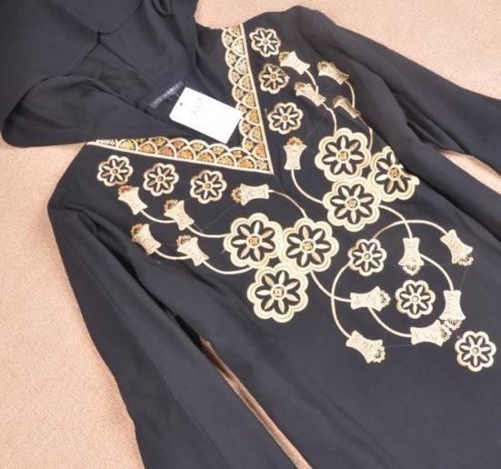 Abaya black fabric,wool peach, wool chiffon fabric