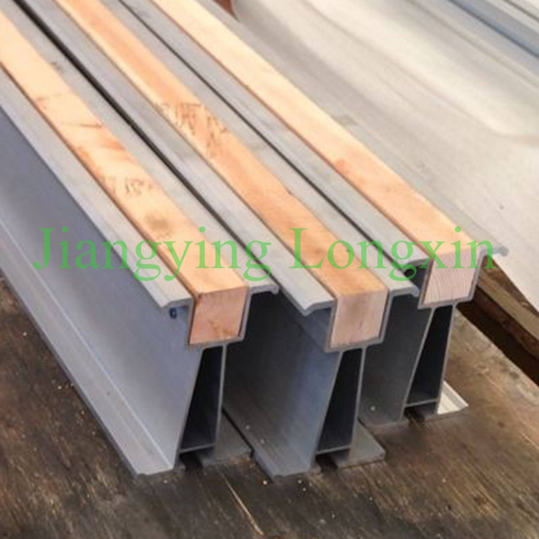6061 Aluminum scaffolding beam 150x90mm with wood fitter