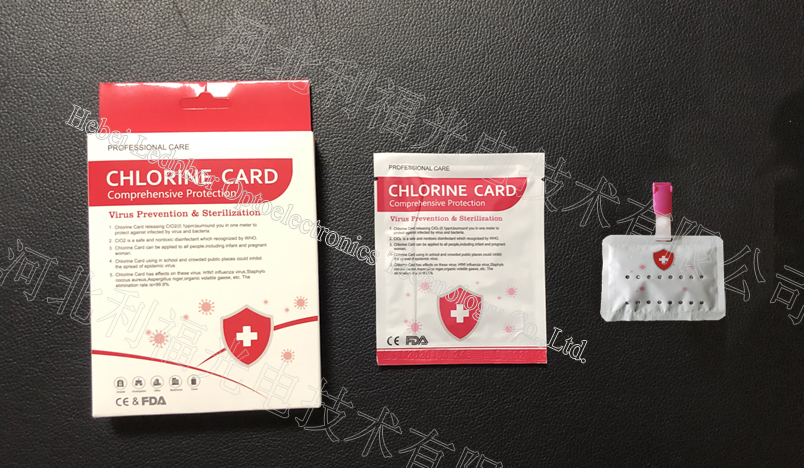 Hot Sell Chlorine Dioxide Sterilization Card for Children and Adult Work for 90days