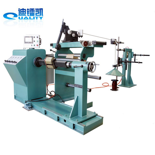 HV automatic cabling coil winding machine for amorphous transformer