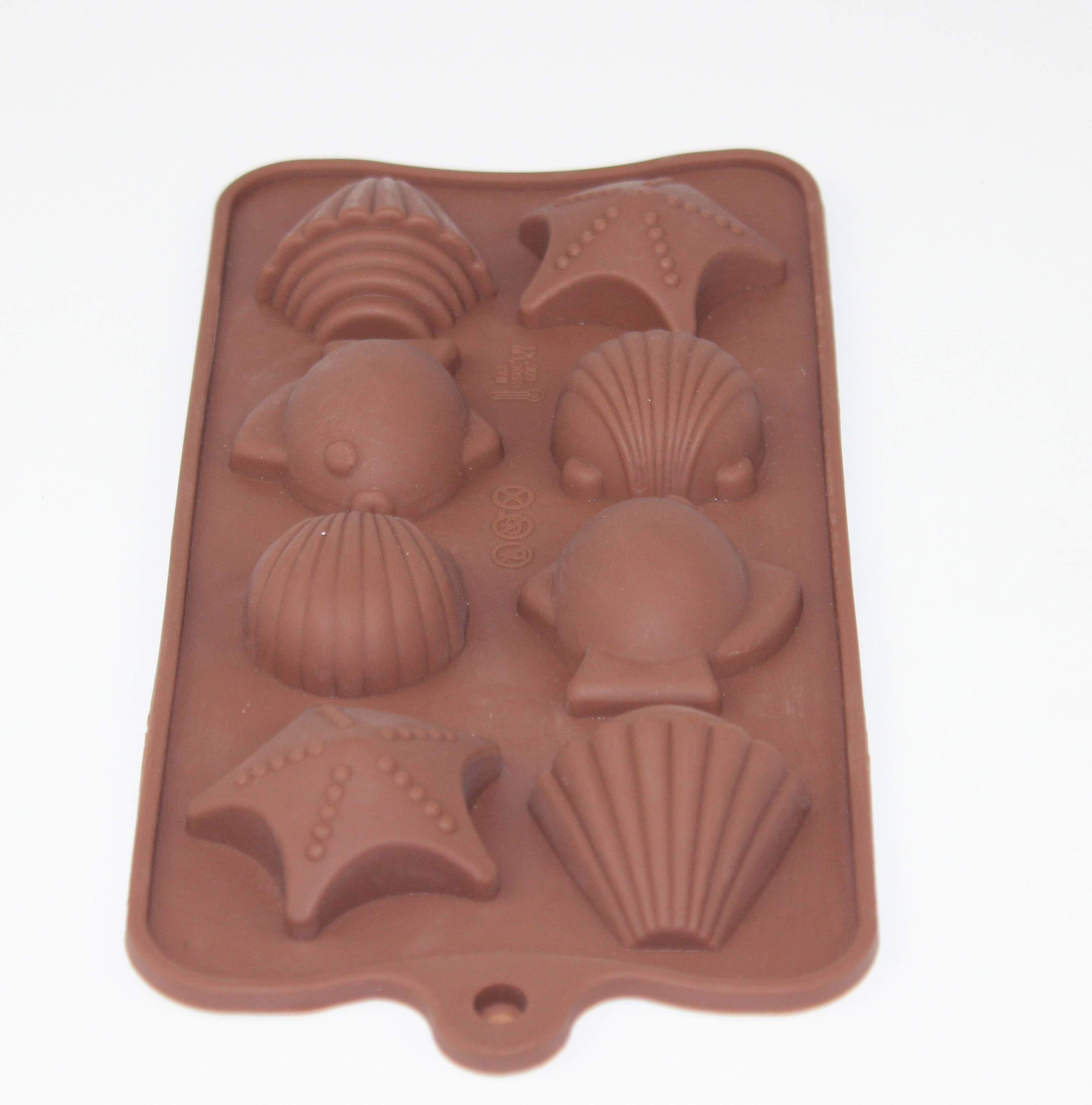 Shell Shape 8-Cubes Silicone chocolate molds