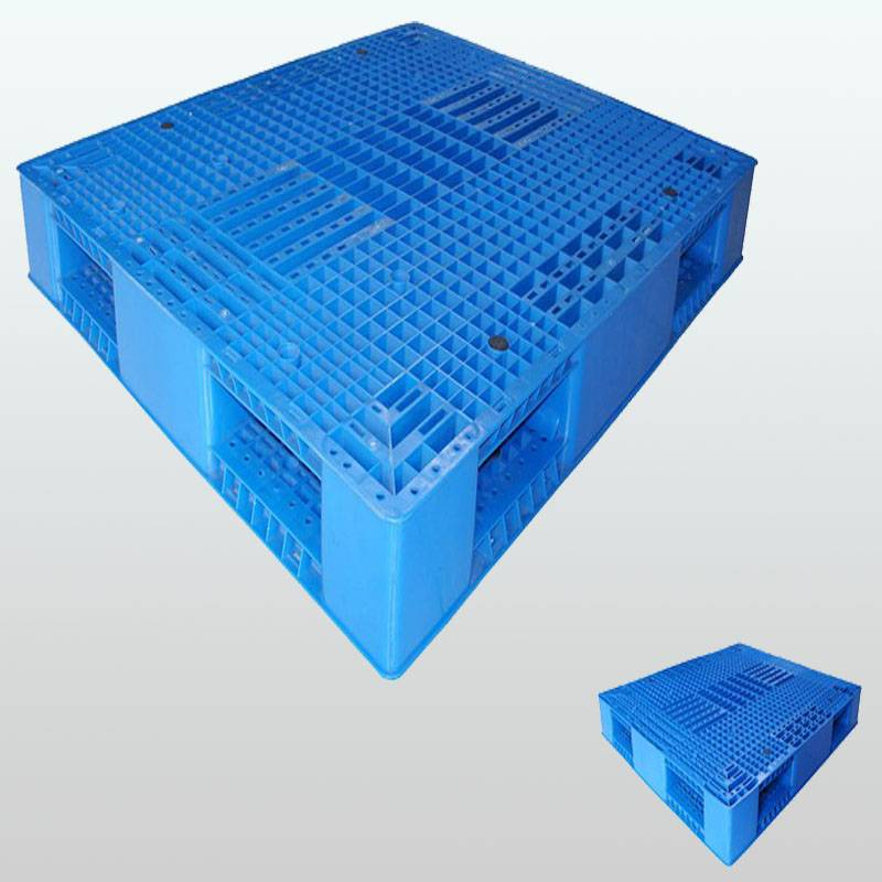 plastic pallet with double-faced.grid. stackable.1200*1000*150