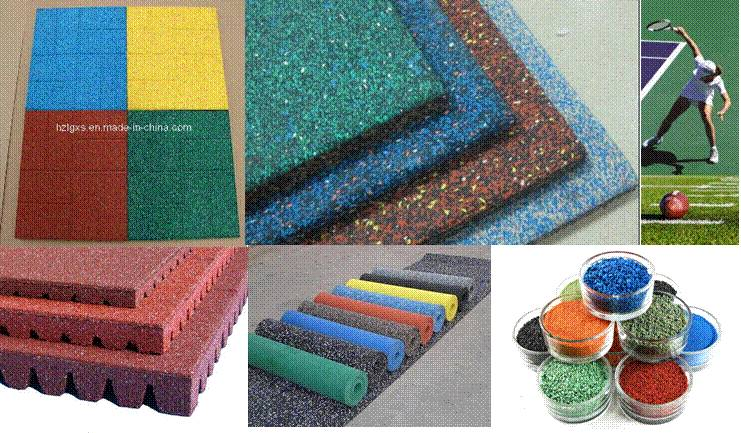Sport safety surfacing-EPDM Rubber granules +Artigical grass