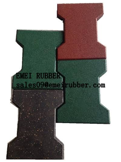 outdoor pathway rubber tile for garden and park