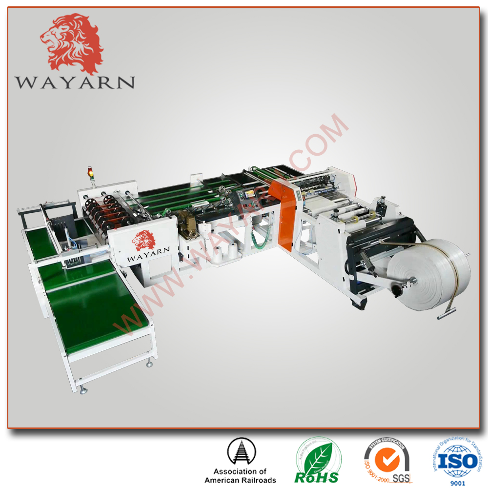 Automatic non woven rice sack making printing cutting sewing machine