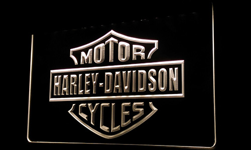 Ls210-w Harley Davidson Motor Cycles Neon Light Sign