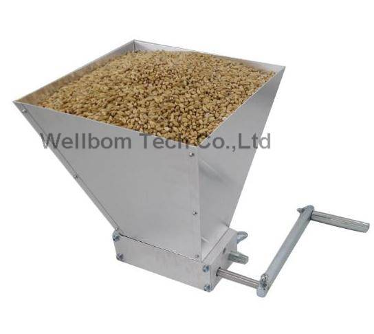 2 Rollers malt mill grain mill home brew mill barley crusher