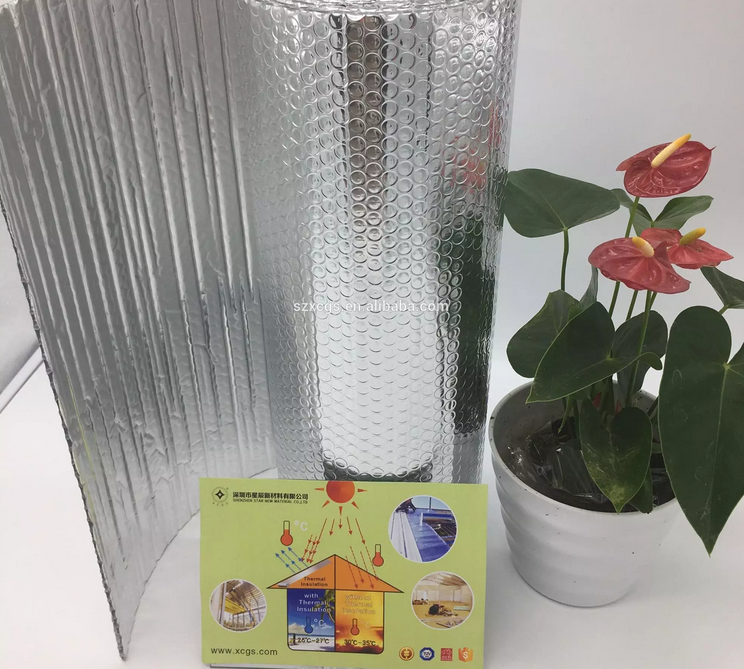 Reflective aluminum foil bubble padded heat insulating material for roof insulation