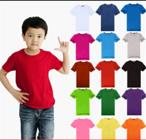 The new high quality 32 combed cotton children's T-shirt