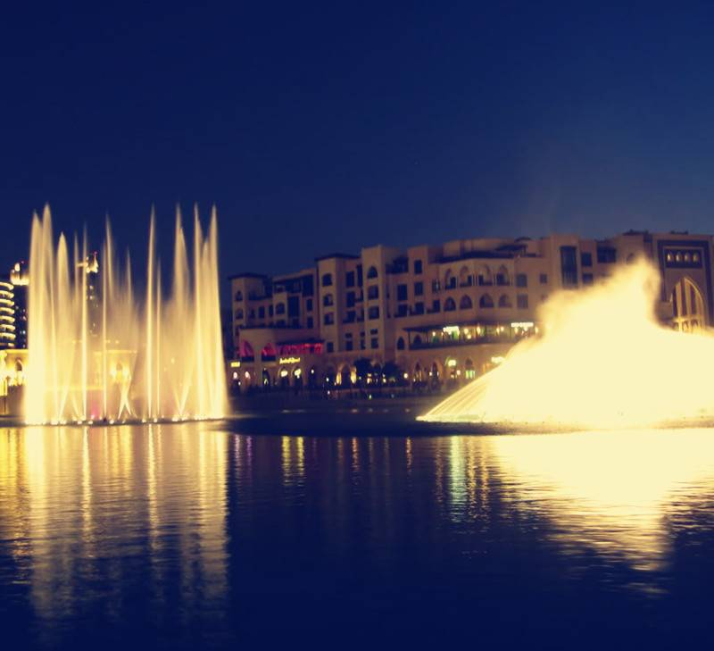 Lake Floating Multicolor Dancing Musical Fountain