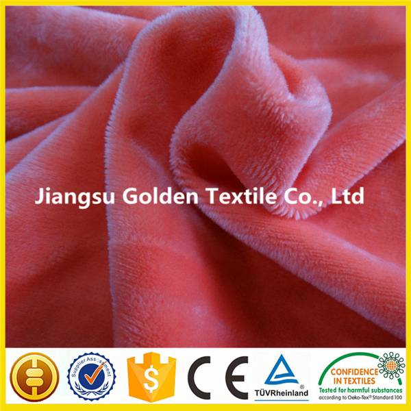 Best selling 100%polyester plush fabric per meter
