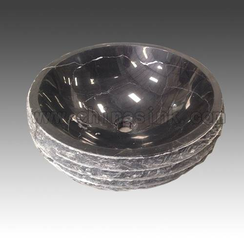 Black Forest Marble Stone Bathroom Sink