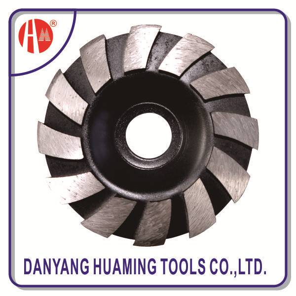 segmented diamond turbo cup grinding wheel