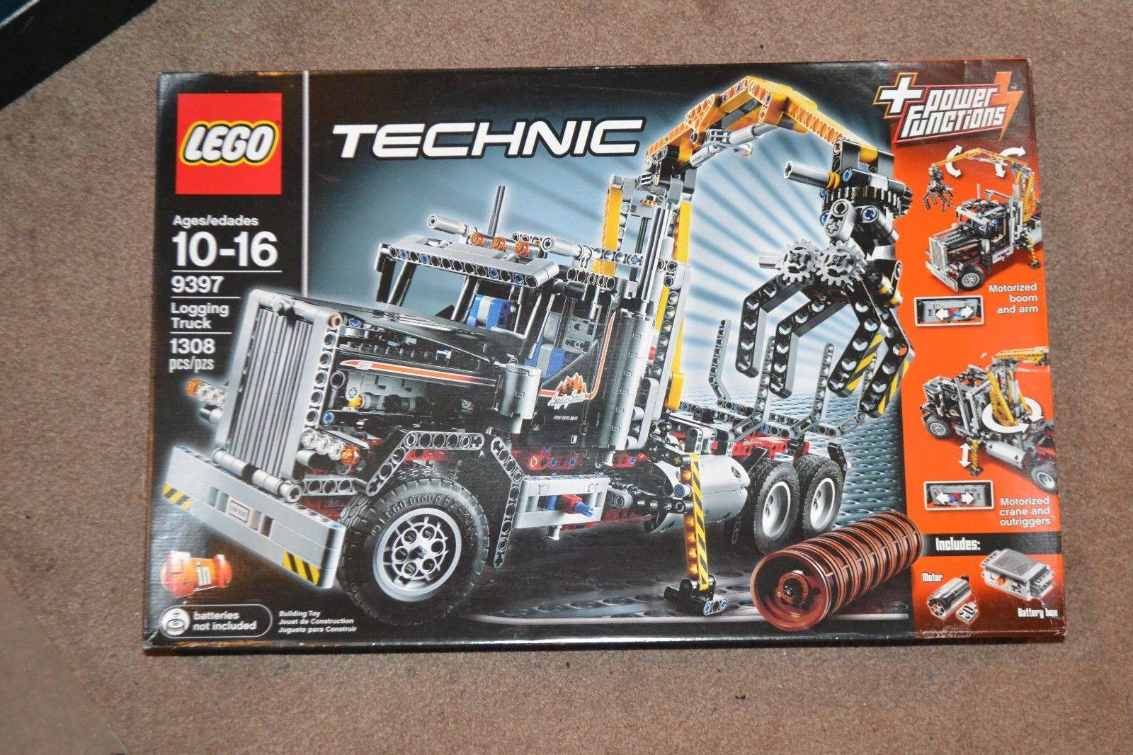 Lego 9397 Technic Power Functions Logging Truck Set
