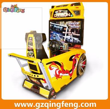 Qingfeng GTI coin operated driving simulator FF racing car machine