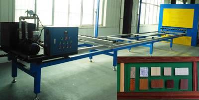 wood grain transfer machine for aluminum door