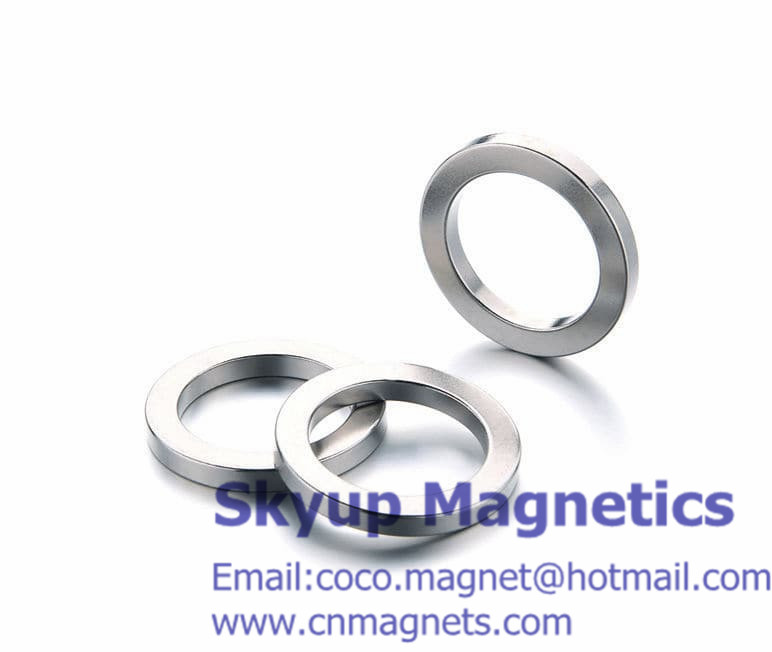 Ring magnets with NiCuNi plating used in speakers