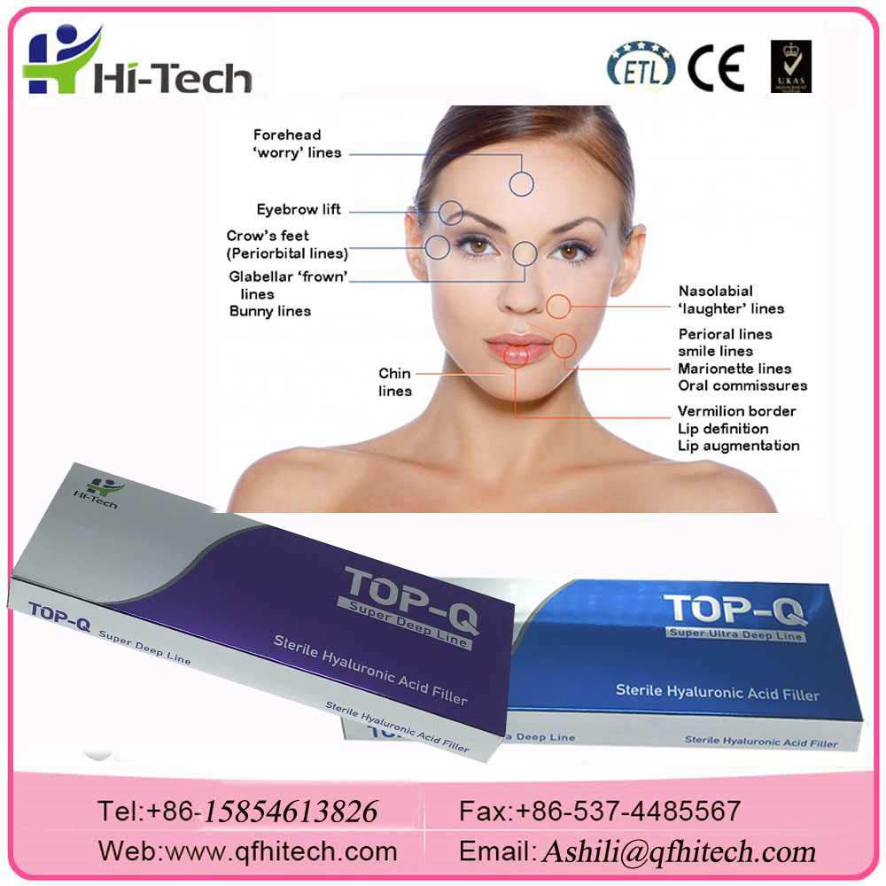 BD Syringe Face Wrinkles Injectable Hyaluronic Acid Gel