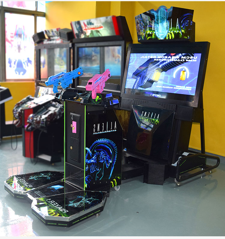 Aliens simulation gun shooting game machines coin operated for arcade video game machine center