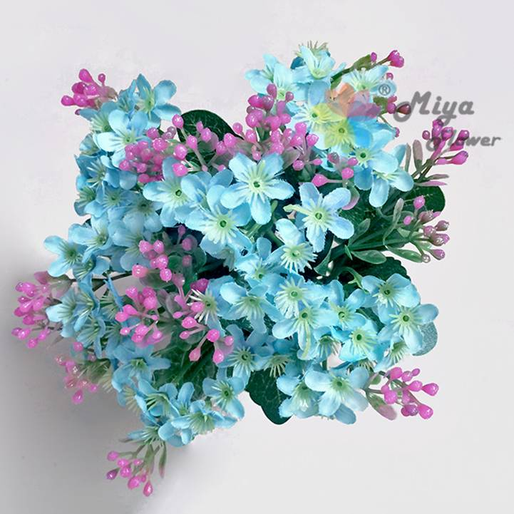 6 branches decorative artificial silk flower baby's breath