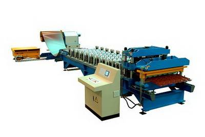 Aluminium Step Tile Roofing Sheet Corrugating Machine