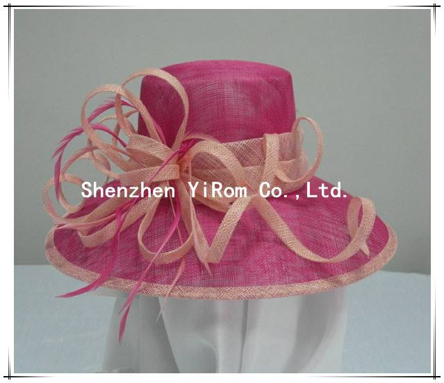 YRSM13063 wedding hat, sinamay hat, church hat,occasion hat,derby hat, race hat