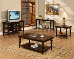 modern wood coffee table set