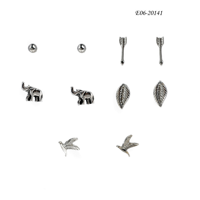 StudE06-20141 New fashion European and American earrings personality geometric simple earring stud