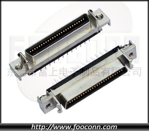 SCSI connector,HPCN connector,50P female straight DIP
