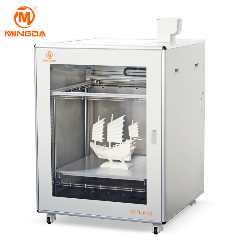 MINGDA MD-666 Large 3D Printer , Direct Sale Metal 3D Printer, High Precision FDM 3D Printer