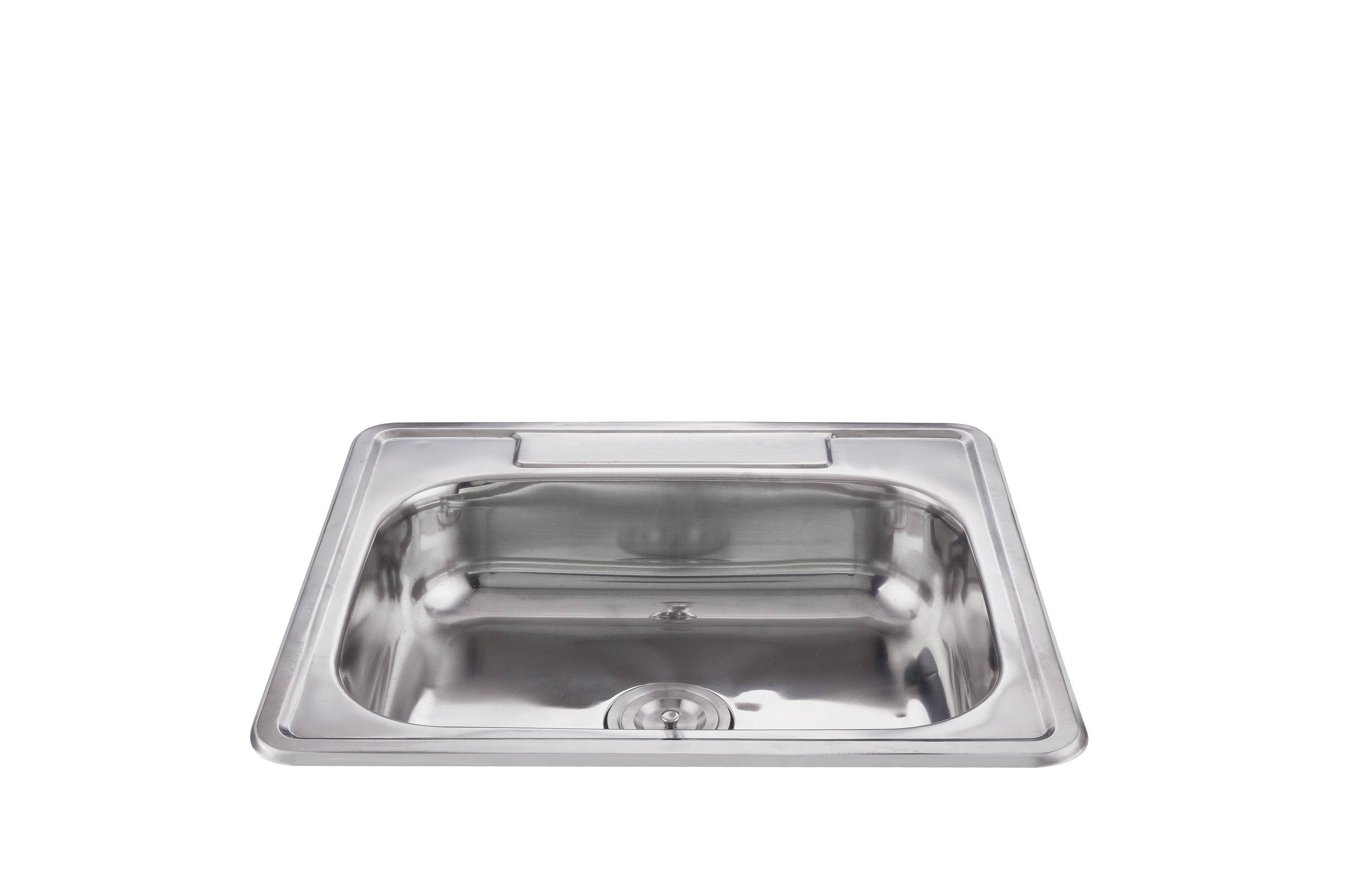 Hot sale widely used large volume rectangular kitchen sink 25*22