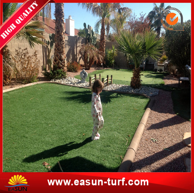 Soft Fire-Proof Synthetic Lawn Turf Grass for Home Garden-MY