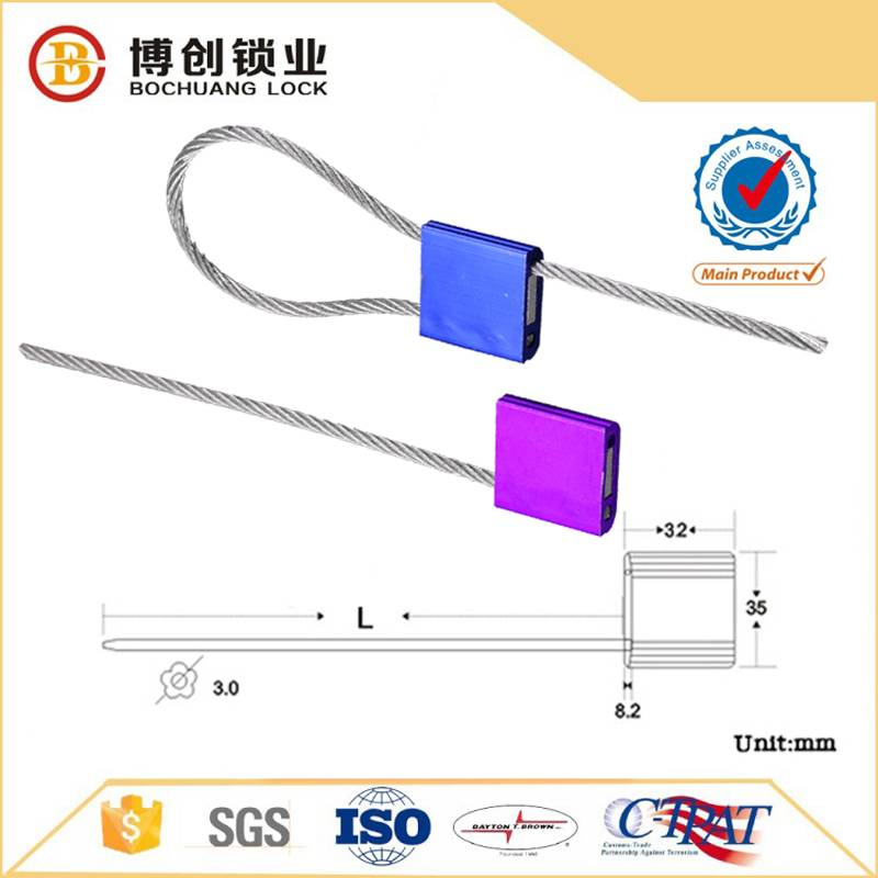 High security cable seal with steel wire