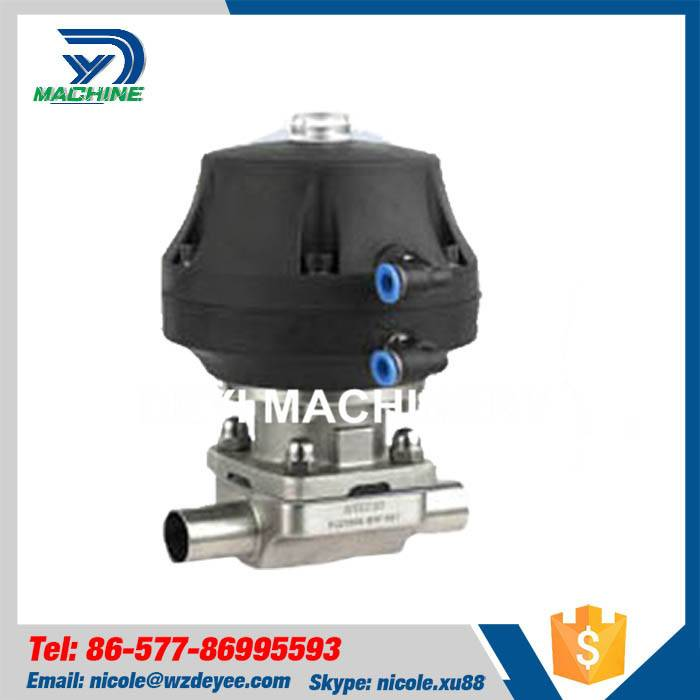 Stainless Steel Food Grade Pneumatic Diaphragm Valve