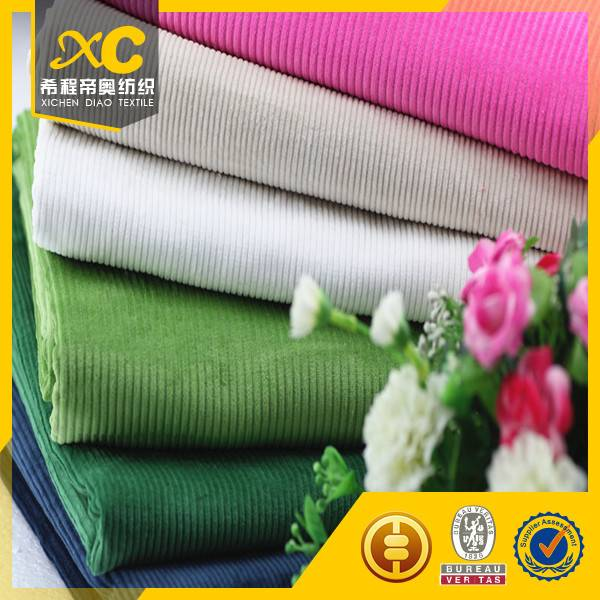 16w bright colorful corduroy fabric made in China