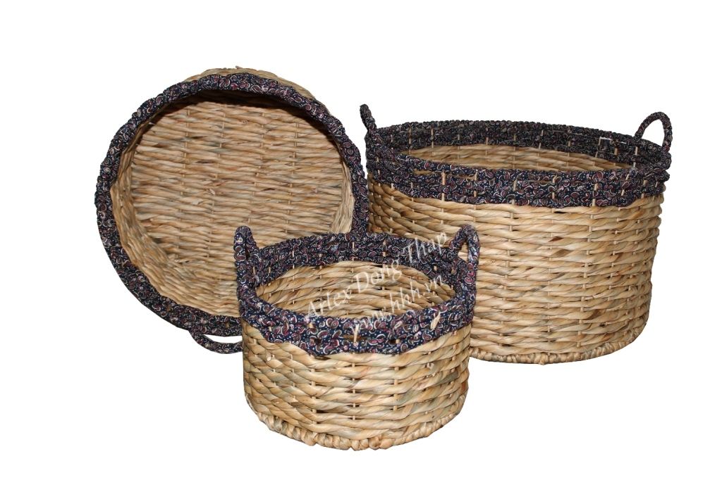 Water hyacinth basket for home decor and furniture - SD6977B-3MC