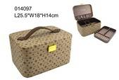 Hot sale jewelry case with slide compatments ring tray inside made in Shantou