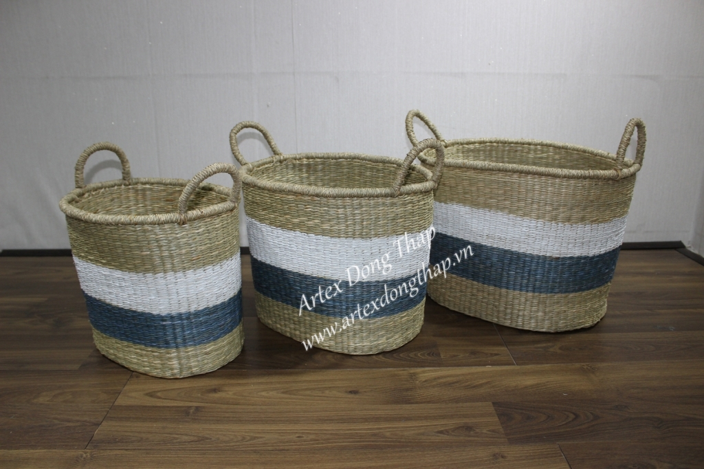 Seagrass basket for home decoration and furniture - BH3296A-3MC