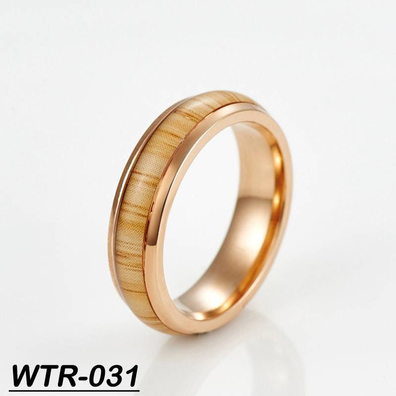 rose gold plating designs tungsten finger ring groove wedding ring
