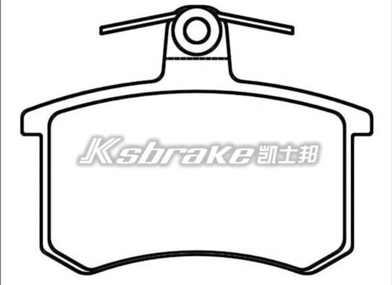 Semi-metallic brake pads for car