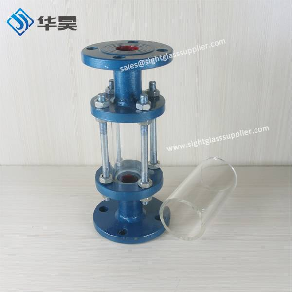 Tempering Glass Tube with flange
