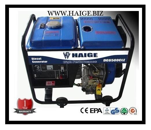 5kw open type Diesel generator DG6500CL(E)